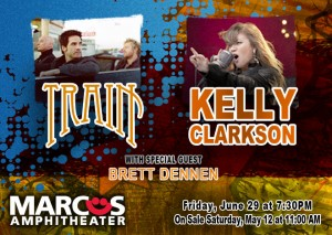 Kelly Clarkson and Train Marcus Amphitheatre
